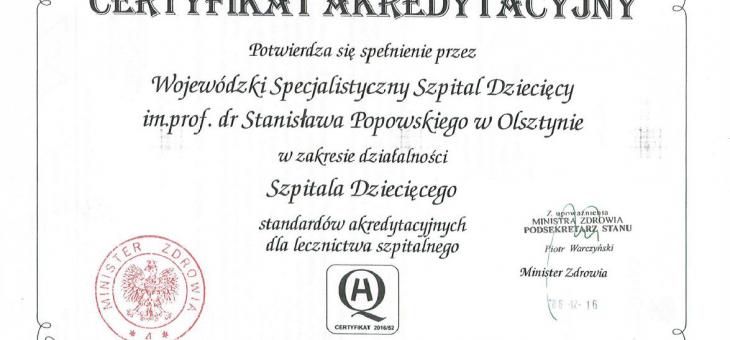 Certyfikat akredytacyjny 4