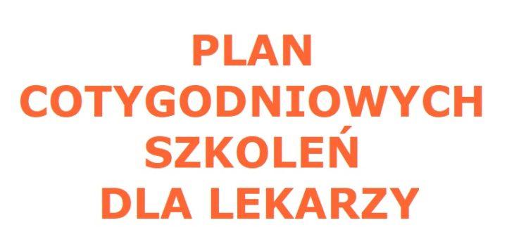 Plan cyklicznych szkoleń dla lekarzy odbywających się w Szpitalu Dziecięcym w Olsztynie